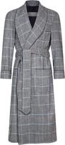 Daniel Hanson Check Print Wool Robe