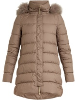 Herno Fox-fur trim quilted down jacket
