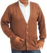 CELITAS DESIGN Cardigan Alpaca and Blend V neck Buttons and pockets dark XL