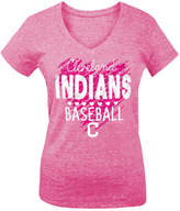 5th & Ocean Cleveland Indians Pink Hearts T-Shirt, Big Girls (4-16)