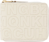 Comme des Garcons Wallets Cream Letter Embossed Wallet