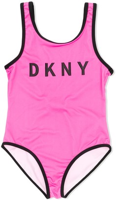 DKNY Logo Print Swimsuit
