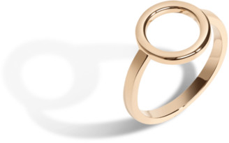 AUrate New York Solid Circle Ring