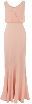 Oasis 'Emily' slinky bow back maxi dress