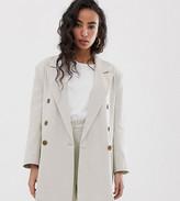 Asos DESIGN Petite oversized double breasted dad suit blazer