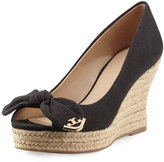 Tory Burch Dory 85mm Wedge Espadrille, Black