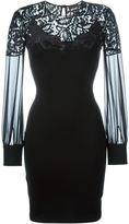 Just Cavalli lace panel fitted dress