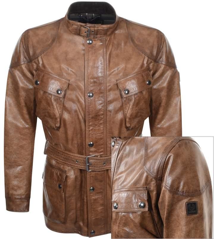 8d22a7af3 Trailmaster Panther Leather Jacket Brown