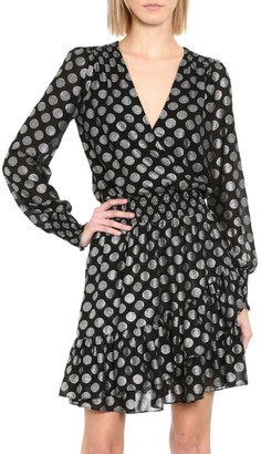 MICHAEL Michael Kors Polka Dot Ruffle Wrap Dress