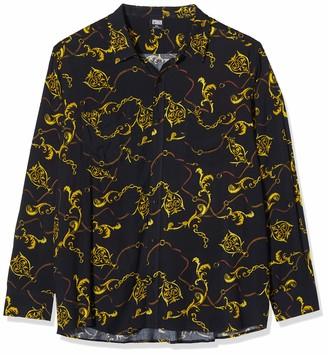 Urban Classics Men's Hemd Viscose Shirt Casual Black Black 02356 Xx-Large