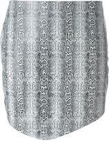 Jay Ahr python print asymmetric hem skirt