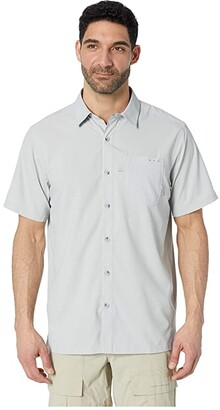 Columbia Slack Tide Camp Shirt (Cool Grey) Men's Short Sleeve Button Up