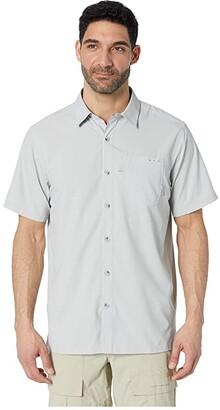 Columbia Slack Tidetm Camp Shirt (Cool Grey) Men's Short Sleeve Button Up