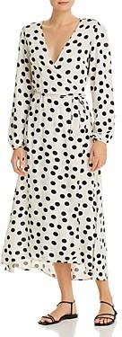 Vero Moda Dot Print Wrap Dress