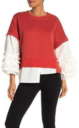 Tov Samba Sleeve Twofer Sweater