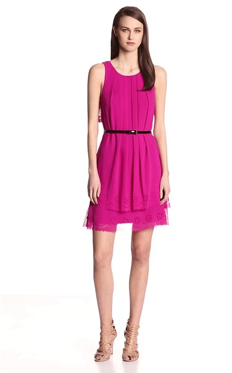 Jessica Simpson Sleeveless Popover Back Short Dress JS4R3888