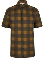 River Island MensYellow check short sleeve shirt