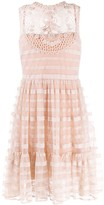 RED Valentino Point d'Esprit flared dress