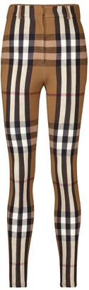 Burberry Checked stretch-jersey skinny pants