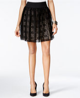 Amy Byer Juniors' Lace A-Line Skirt