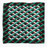J.Crew Italian silk scarf in Ratti® graphic diamond print