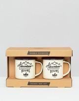 Gentlemen's Hardware Double Espresso Enamel Mug Set