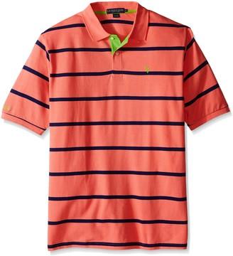 U.S. Polo Assn. Men's Big-Tall Stripe Pique Polo Shirt