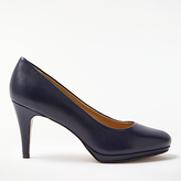 John Lewis Alicia Platform Cone Heeled Court Shoes, Navy