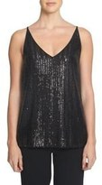 1 STATE 1.State Sequin Cutout Tank Top
