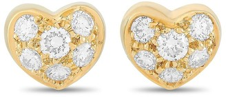 Heritage Tiffany & Co. Tiffany & Co. 18K 0.35 Ct. Tw. Diamond Heart Earrings