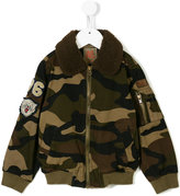American Outfitters Kids collar detail camouflage jacket