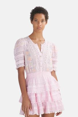 LoveShackFancy Pink Tulip Quincy Dress