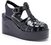 Pandora Black Platform Jelly Wedge Sandal
