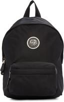 Versus Black Nylon Lion Medallion Backpack