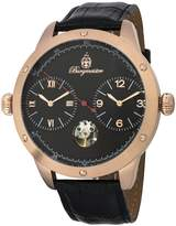 Burgmeister Men's Automatic Stainless Steel and Leather Casual Watch, Color: (Model: BM233-322)