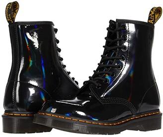 Dr. Martens 1460 Rainbow Patent (Black) Women's Boots