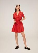 MANGO Adjustable drawstring cotton dress orange - 2 - Women
