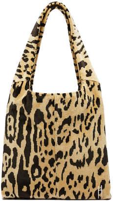 Hayward Medium Grand Shopper Leopard-Print Tote Bag