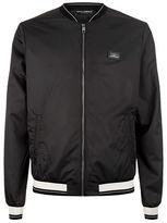 Dolce & Gabbana Stripe Trim Bomber Jacket
