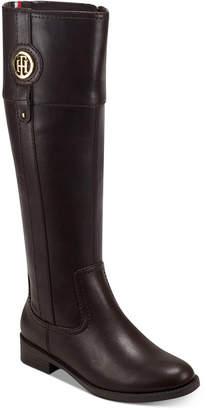 Tommy Hilfiger Women Wide Calf Imina Riding Boots Women Shoes