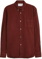 Our Legacy 1950s Burgundy Linen Blend Oxford Shirt