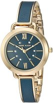 Anne Klein Women's Quartz Metal and Alloy Dress Watch, Color:Blue (Model: AK/2436BLGB)