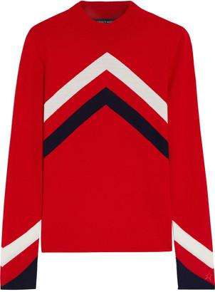 Perfect Moment Intarsia Merino Wool Sweater