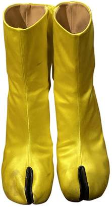 Maison Margiela Tabi Yellow Cloth Boots