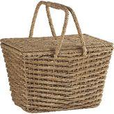Crate & Barrel Ventana Natural Picnic Basket