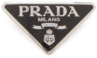 Prada Triangle Logo-plaque Hair Clip - Black