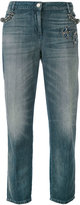 Twin-Set embellished tapered jeans - women - Cotton/Linen/Flax - 25