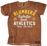 Blumberg Australia Blumberg Men's Australian Sport Athletics Track And Field 1971 (XXL - RUSTY) Vintage T-Shirt