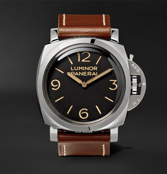 Panerai Luminor 1950 3 Days Acciaio Hand-Wound 47mm Stainless Steel And Leather Watch, Ref. No. Pam00372