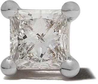 Delfina Delettrez Farfetch Exclusive18kt white gold DOTS Solitaire Diamond stud